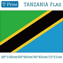 Freeshipping Tanzania National Flag 15*21cm 90*150cm 60*90cm 3*5ft 30*45cm Car For World Cup / Day Olympic Games