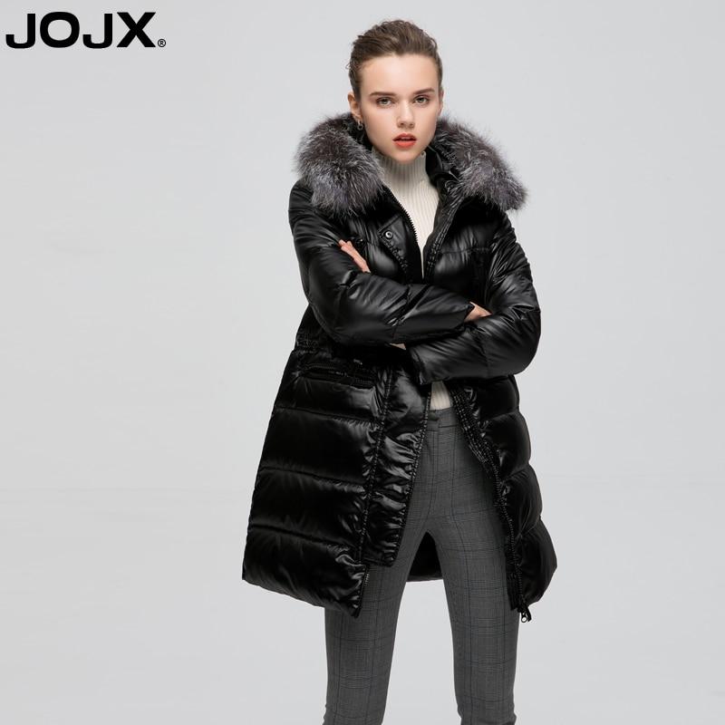 Beige Fourrure D'hiver Manteau Femelle Jojx noir Veste Chaud Capuchon Col Survêtement 2018 Femmes Parka À Femme De nFZnXqHR