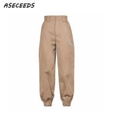 Весна 2018 Модные женские камуфляжные брюки женские брюки карго с высокой талией свободные брюки джоггеры женские камуфляжные