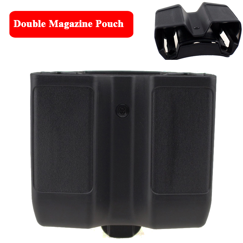 Tactical Double Magazine Pouch Quick Drop Belt Multifunctional Military Cartridge Pouch For 1911 M92 P226 Glock USP image