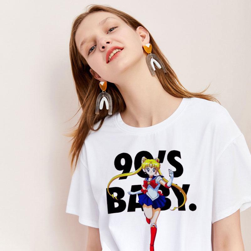 CZCCWD Women Clothes 2019 Thin Section Summer Top Harajuku Sailor Moon   Shirt   90s Baby Fashion Leisure   T     Shirt   Aesthetic Tshirt
