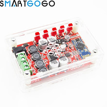 Acrylic DIY Case Cover Shell mini Amplifier Board Module for TDA7492P 2*25W Wireless BT 4.0 Audio Receiver with AUX Interface(China)
