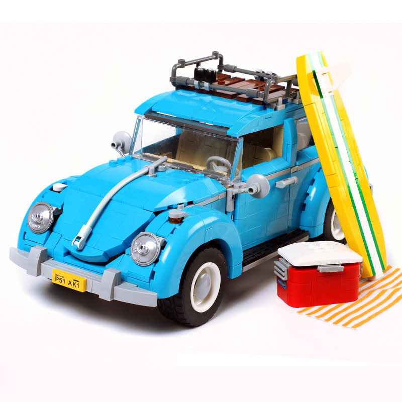1162pcs Creator Series City Car Bricks Volkswagen Beetle Model Building Blocks Board Compatible Toys For Kids