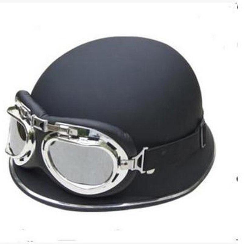 Vintage German Helmet Capacete Motorcycle Off Road Racing Helmets Motos Motorbike Dirt Bike Mens Motorcycle Helmets