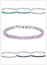 2019 heißer Luxus 8-farbe runde armband weiblich kreuz-grenze armband armband Kristall von Swarovski Fit DW für frauen Party