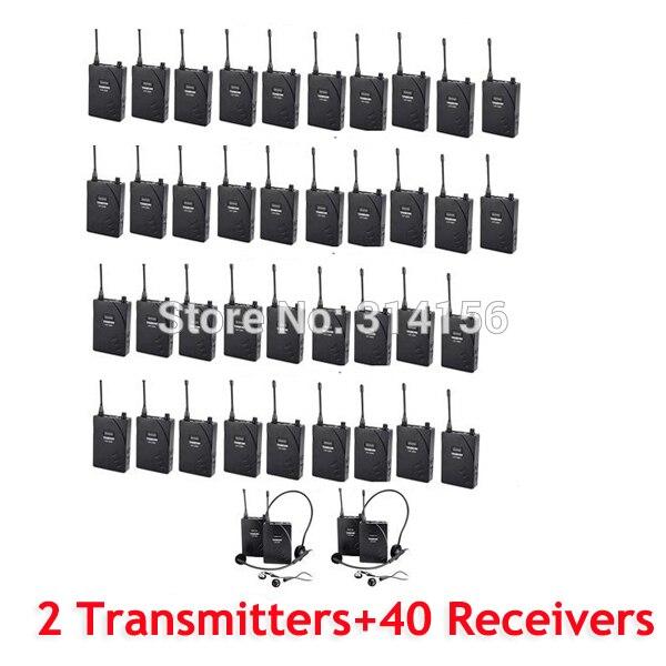 Empfänger 40 Original Takstar Uhf-938/uhf 938 Uhf Wireless Besucherführungssystem 50 Mt Betriebsbereich 2 Sender 40 Kopfhörer
