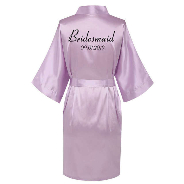 Personalized robes Satin Silk Printed Gown Wedding Bride Bridesmaid Robe 001 4d87aa5c78d8
