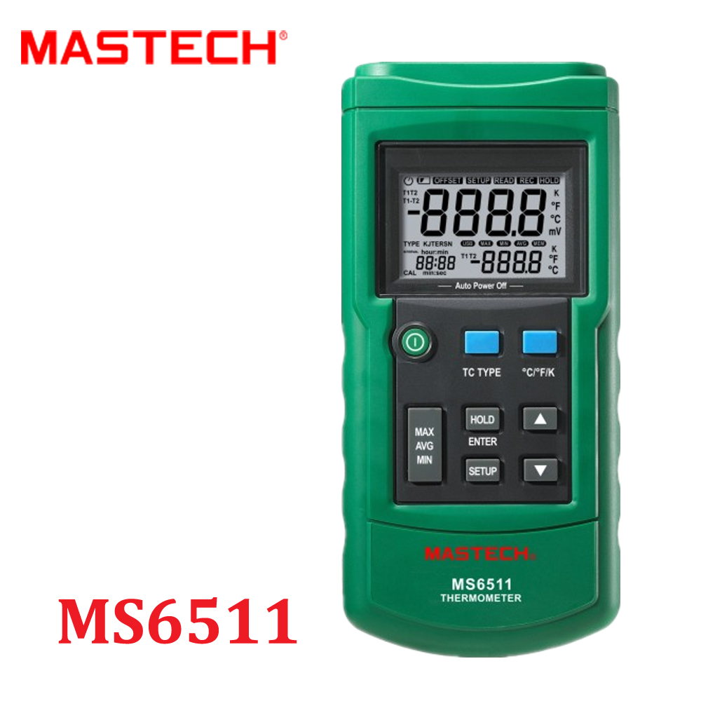 Mastech MS6511 Digital Thermometer Single Channel K, J, T, E Thermocouple Type Temperature Meter Tester With Box Diagnostic-tool сковорода rondell rda 274