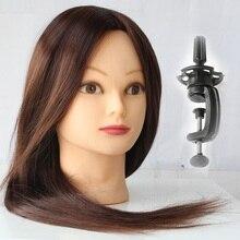 2017 Mannequin Head Hair Brown Training Maniqui Hairdressing Doll Heads Hairdresser Manik Heat Resistant Animal Makeup