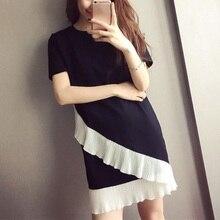 Autumn Sexy Lace Patchwork Mini Dress O-Neck Short Sleeve Bodycon Dress Vestidos