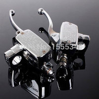 2x Universal Motorcycle Handlebar Brake Clutch Master Cylinder For 7 8 22mm CB1300 VFR800 CB1000 CB1100