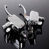 2x Universal Motorcycle Handlebar Brake Clutch Master Cylinder For 7 8 22mm CB1300 VFR800 CB1000 CB1100