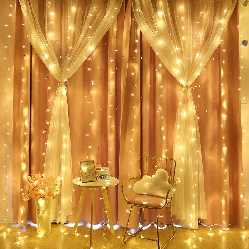 6m Led Wedding String Lights 600 Led Remote Control Indoor