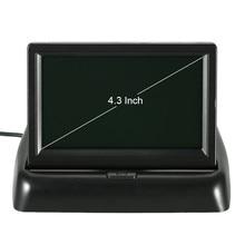 """4,"""" цветной TFT lcd Складной автомобильный монитор помощи при парковке DC 12V Складной автомобильный монитор с бесплатной доставкой"""