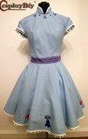 Косплей diy Olaf's Adventure Принцесса Королева Анна женские Платья Замороженные Косплей Женская юбка Хэллоуин Карнавальный костюм на заказ