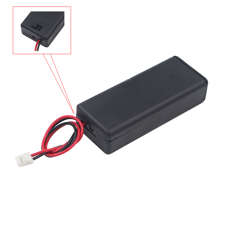 7# Battery Holder Plastic Case With ON/OFF Switch Lead Line For Dry Cell Battery Case Plastic Box For Micro:bit