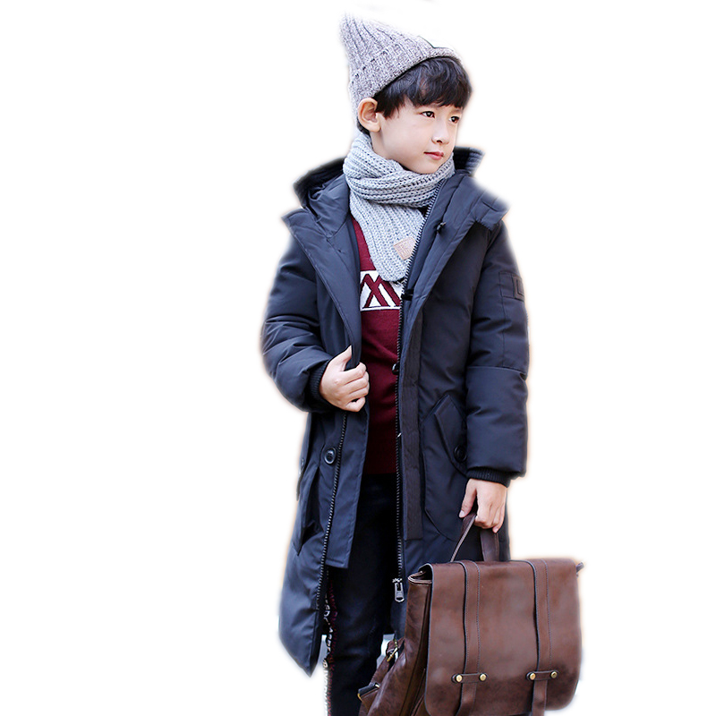 boy winter coat 2018 new kids winter jackets solid long section cotton padded coat for boys thicken warm hooded children outwear 2017 new winter slim jackets women hooded thicken coat female fashion outwear cotton padded long wadded jacket coat parka pw1047