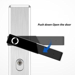 Image 2 - Fechadura eletrônica de impressão digital, fechadura de porta inteligente em aço inoxidável, impressão digital, semicondutor, fechadura eletrônica para porta