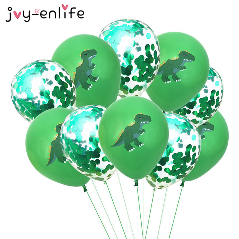 12inch Cartoon Dinosaur Confetti Balloon Baby Shower Kids