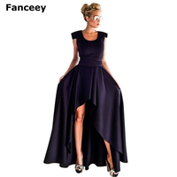 Fanceey 2019 New Fashion Asymmetrical Dress Prom Gown Dress Sexy Women Long Formal Party Elegant Cocktail Graceful Dress Dress
