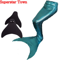 Ariel The Little Mermaid Tail Princess Girls Womens Mermaid Tail Swimwear Swimmable Monofin Swimming Flipper Cosplay