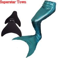 Ariel The Little Mermaid Tail Princess Girls Womens Mermaid Tail Swimwear Swimmable Monofin Swimming Flipper Cosplay