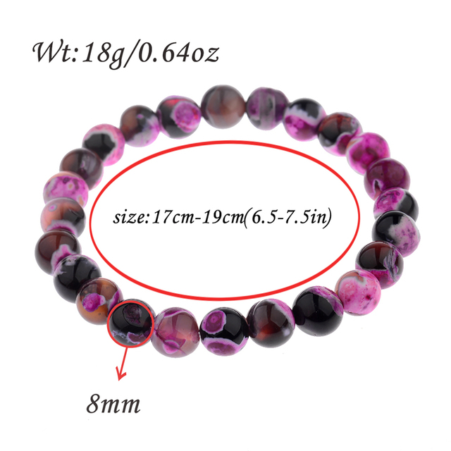 DOUVEI 8mm Genuine Colorful Natural Tourmaline Bracelets For Women Lady Charm Stretch Round Crystal Bead Bracelet Wholesale
