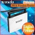 Tenda N300 Easy Install 300 Мбит Беспроводной Маршрутизатор Широкополосного AP Маршрутизатор Диапазон Extender 1 WAN + 3 LAN Порта НЕТ ЦВЕТ ПАКЕТ ПРОМ-
