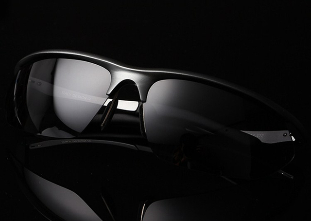 = CLARA VIDA = High-tech aviation Al Mg alloy sports Men's Polarized Sunglasses Tac Enhanced Polarised Sun glasses