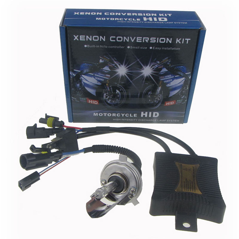 SPEVERT 55W HID H4 Hi/Lo Bi-Xenon Motorcycle Motorbike Headlight Ballast Conversion Kit 4300K 5000K 6000K 8000K 10000K h6 motorcycle motor hid xenon kit bi motorcycle hid headlight bulbs universal motorbike hid light ballast lamp 12v auto