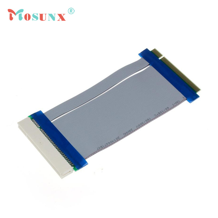 MOSUNX Futural Digital Hot Selling 32 Bit Flexible PCI Riser Card Extender Flex Extension Ribbon Cable  Good Quality F35 tcp ip fingerprint time attendance color screen 2000 user time attendance fingerprint password rfid card time atteendance