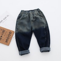 2-8Y nova moda primavera mudando gradualmente de cor jeans meninos meninas jeans crianças calça jeans crianças jeans meninos denim calças