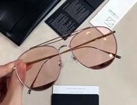 2017 Korea Gentle odd odd sunglasses for women computer optical frame pink lens metal sun glass with original case oculos de sol