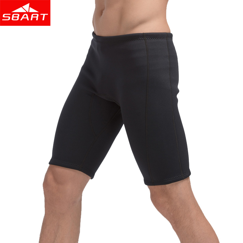 SBART Men Swim Jammers 3MM Neoprene Sunscreen Swimsuits Bathing Suit Swimming Beach Shorts Pant Trunks Jammers Large Size L-4XL