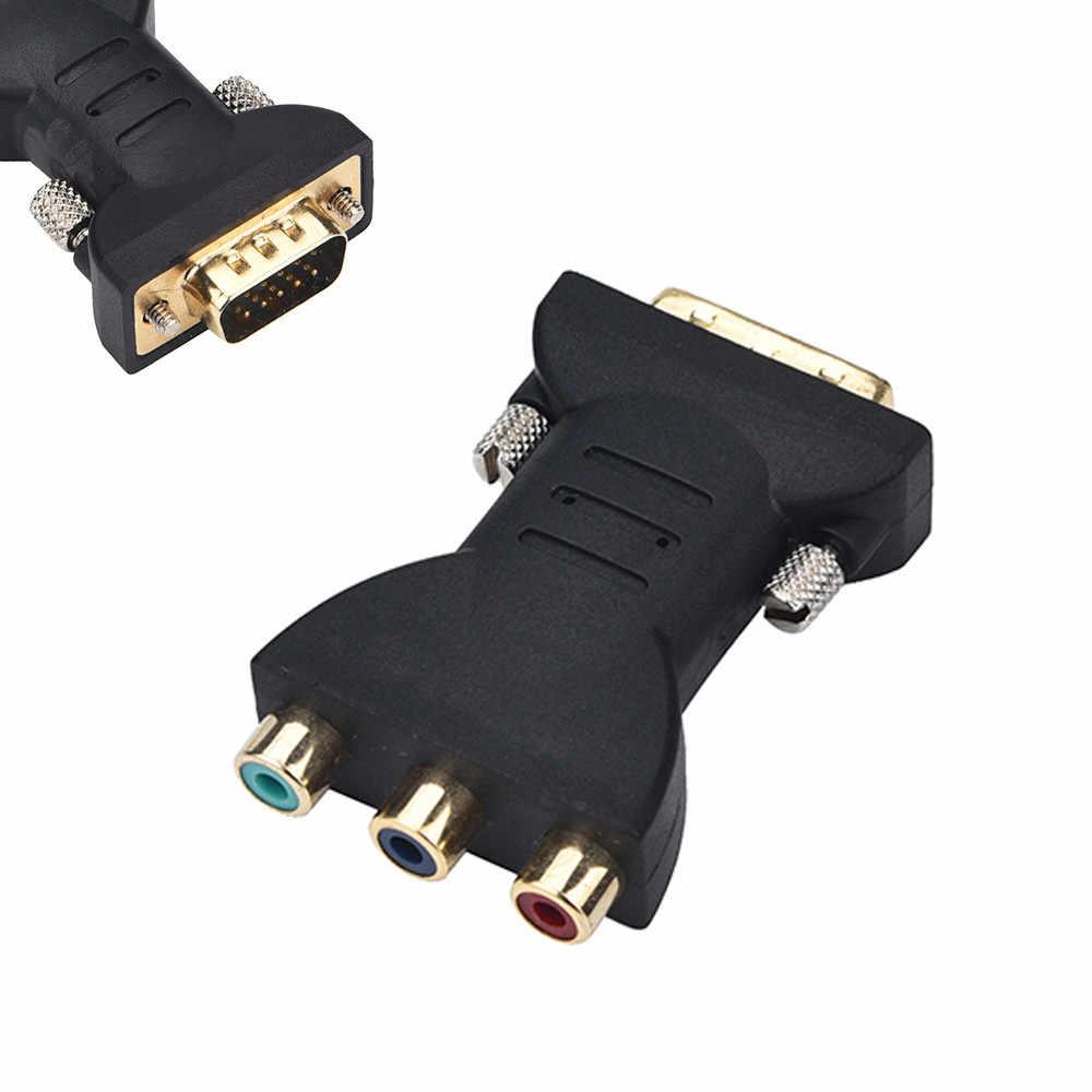 דיגיטלי כבלי RCA RGB וידאו נקבה כדי HD 15 פינים VGA רכיב וידאו ממיר מתאם טלוויזיה LCD #25