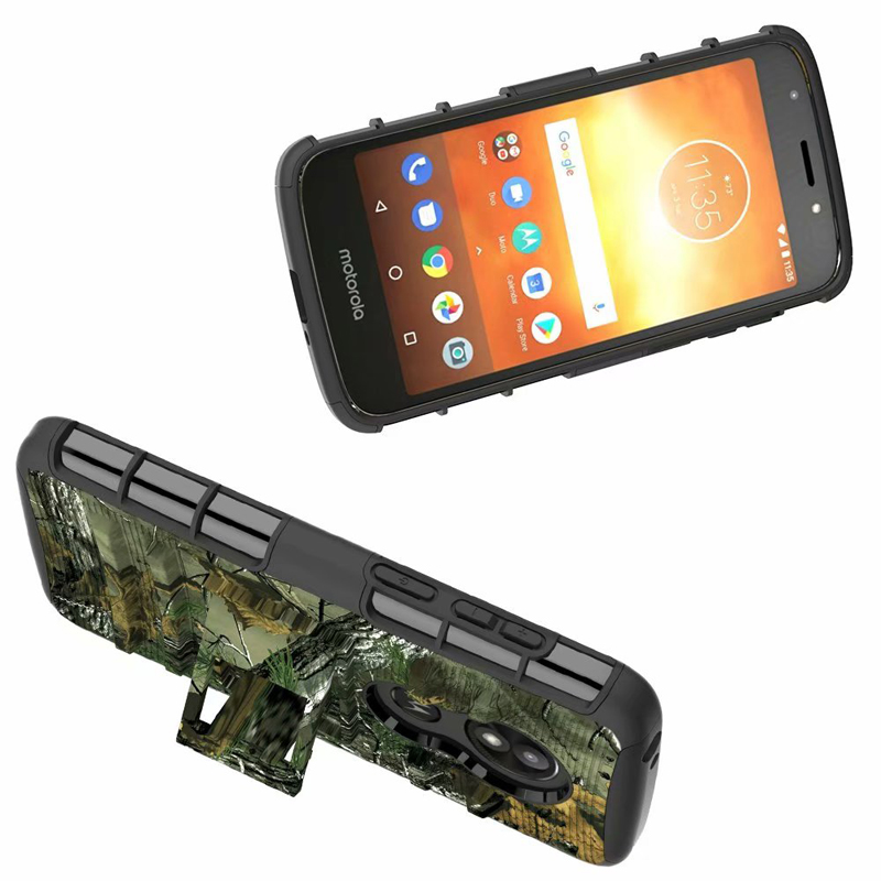 US $7 59 5% OFF 1 For Motorola Moto E5 Play / E5Play Case Hybrid Heavy Duty  3 in 1 Military Camo Hard Shockproof Case Belt Clip Stand Cover Case-in