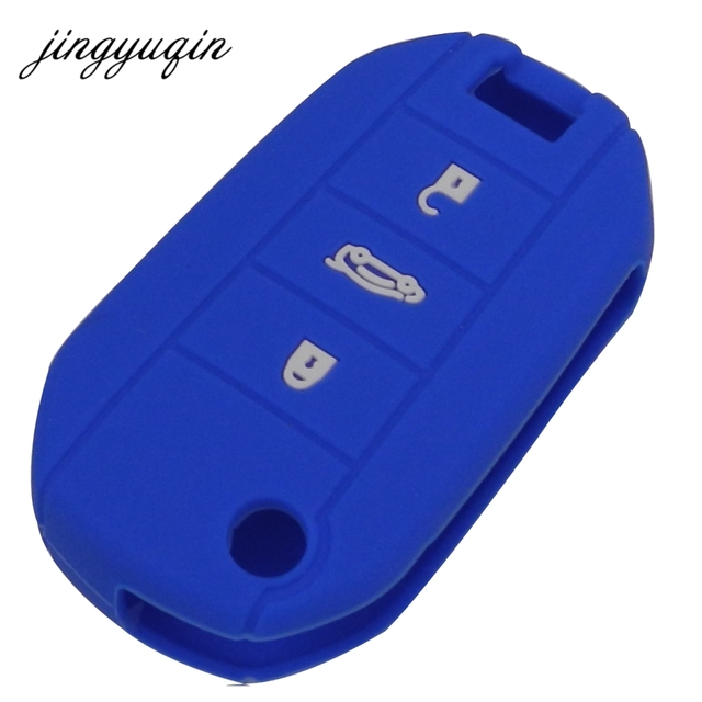 jingyuqin Skin Silicone Flip Car Key Cover for Citroen C4 CACTUS C5 C3 C4L Peugeot 508 301 2008 3008 408 key Case Bag Holder