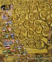 Gold paintings of famous artist Expectation (Luxury Line) Gustav Klimt art replicas High Quality Handmade