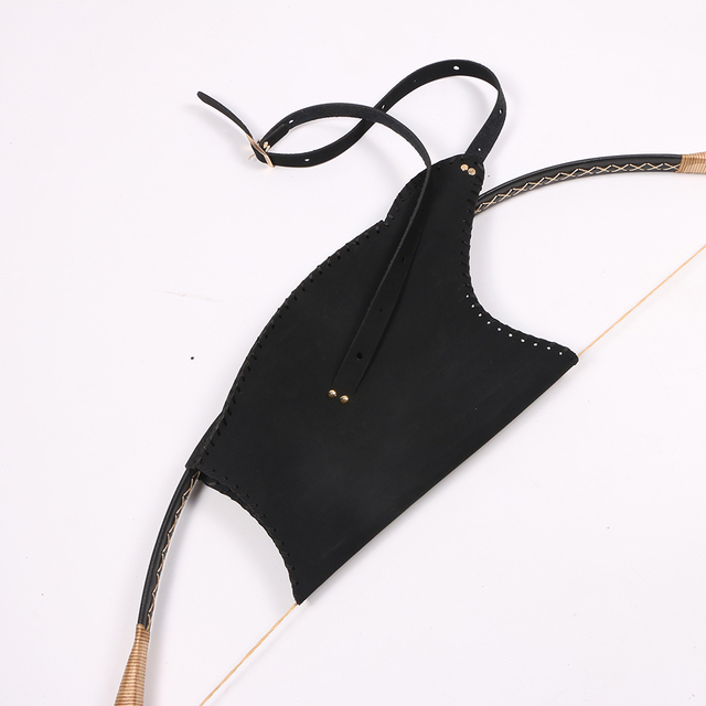 archery hunting bows and arrows bag quiver black leather bows arrows holder adult outdoor target shooting accessories