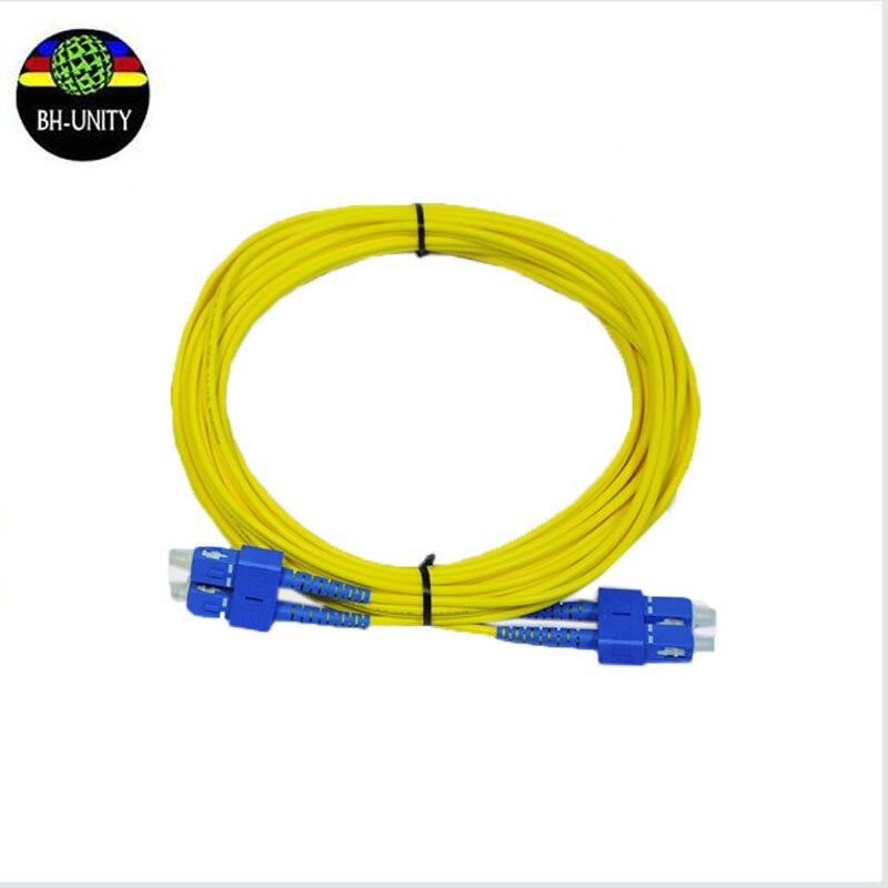Струйный принтер волокно кабель двойной core с квадратным носком 10 м длина Galaxy тандерджет оптоволоконный кабель skycolor волокно кабель на прода...