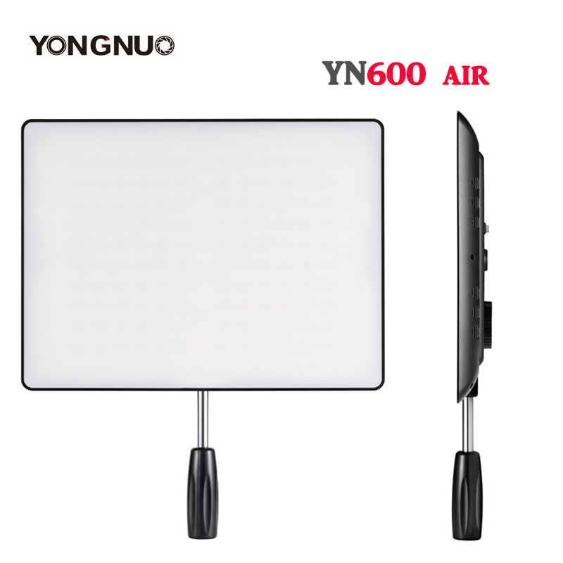<font><b>YONGNUO</b></font> <font><b>YN600</b></font> Air LED Video Light Panel 3200K-5500K Bi-color Photography Studio Lighting for Canon Nikon Sony DSLR & Camcorder image