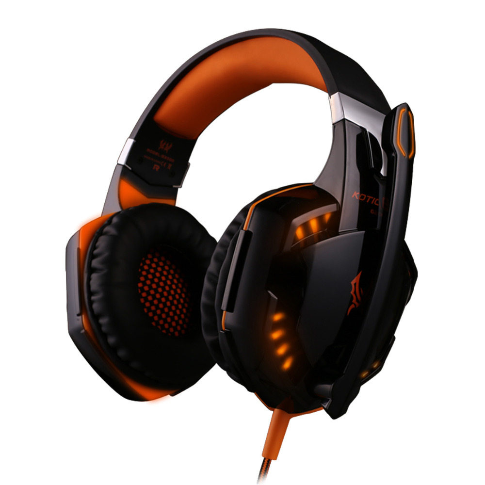 G2000 Gaming Headset Wired Earphone Gamer Headphone With Microphone LED Noise Canceling Headphones for Computer PC wired headphones earphone gaming headset foldable headphone with microphone stereo headset gamer for computer iphone xiaomi sony