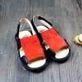 Высокое качество Натуральной Кожи Летние детская обувь Сначала Ходунки Ручной Работы Ботинки Младенца мокасины 14-18 см Бесплатно доставка