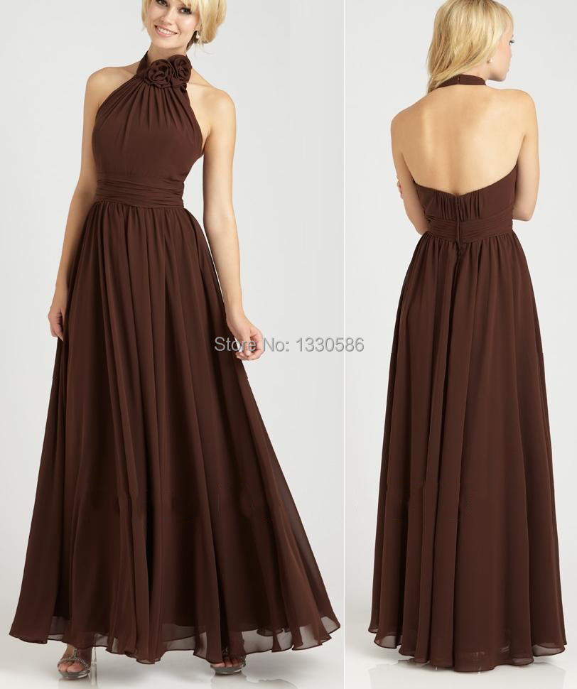 Chiffon Brown Bridesmaid Dresses