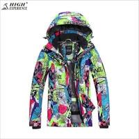 High Experience Brand Women Ski Jacket Ski Wear Waterproof Windproof Snowboard Jacket Outdoor Sport Wear Skiing
