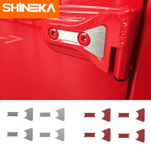 SHINEKA Car Stickers for Jeep Wrangler JL 2018 Up Accessories 2 Door 4 Hinge Cover Trim Engine Hood Sticker