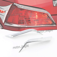 Chrome ABS Plastic Top Trunk Tail Light Visors Trim Accent For Honda Goldwing GL1800 2001 2005 2012 2018
