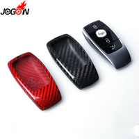 Black Red Real Carbon Fiber Remote Key Fob Case Shell Cover For Mercedes Benz E Class W213 E200 E250 E300 E400 E43 E63 2017 2018