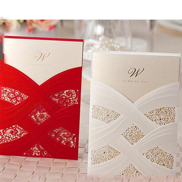 50pcs white red laser cut luxury flora wedding invitations card 50pcs white red laser cut luxury flora wedding invitations card personalized customized elegant wedding event stopboris Gallery