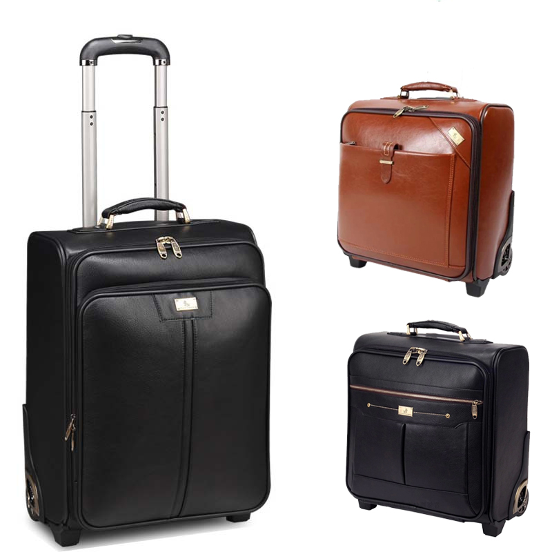 Aliexpress.com : Buy Genuine leather suitcase luggage women & mens ...
